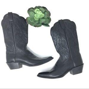 Ariat Deertan Heritage Black Cowboy Western Boots